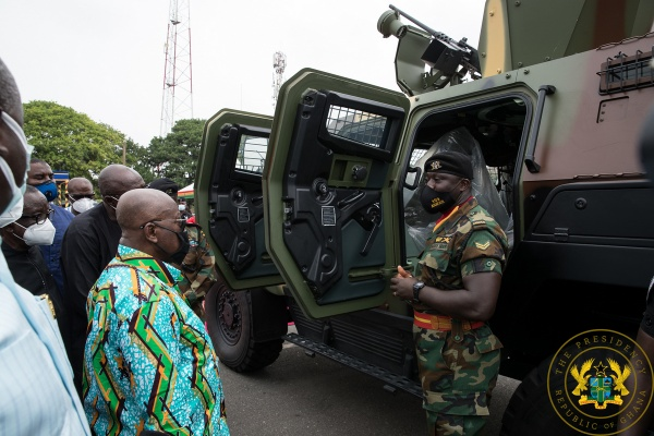 President Akufo-Addo Presents 40 Armoured Personnel Carriers To Armed Forces